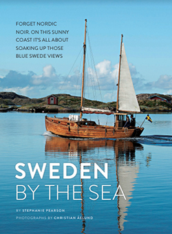 Sweden By The Sea with image of old wooden sailboat on the water
