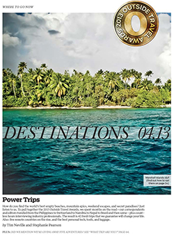 The 2013 Travel Awards