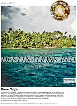 The 2013 Travel Awards