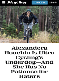 Alexandera Houchin Is Ultra Cycling's Underdog—And She Has No Patience for Haters